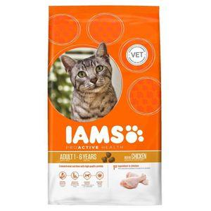 IAMS Croquettes au poulet - Toutes races - 3kg - Pour chat adulte