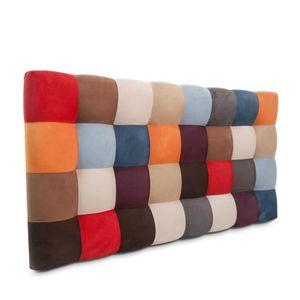 t te de lit tapiss e harlequin hauteur 80 achat vente t te de lit t te de lit tapiss e. Black Bedroom Furniture Sets. Home Design Ideas