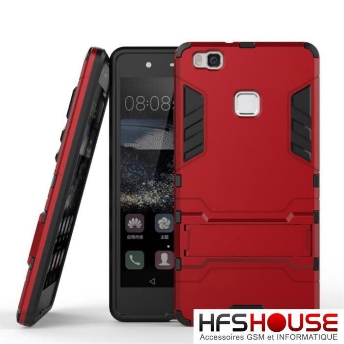 Huawei p9 lite anti choc rouge coque housse etui achat for Housse huawei p9 lite
