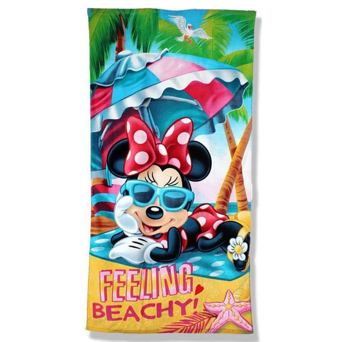serviette de plage drap de bain minnie pour fille achat vente serviette de plage cdiscount. Black Bedroom Furniture Sets. Home Design Ideas
