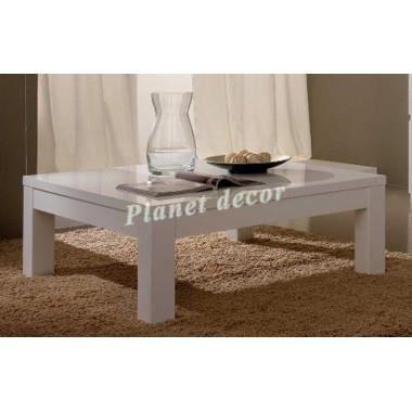 Table basse carre roma laqu blanc achat vente table basse table basse carre roma laqu for Table basse carre laque blanc