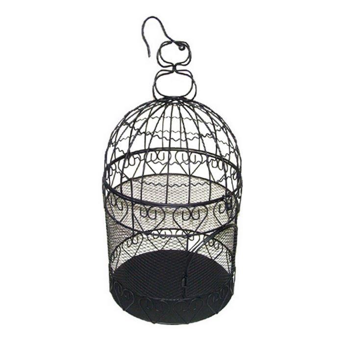 Cage a oiseaux decorative coeurs metal noire achat - Cage a oiseaux decorative ...