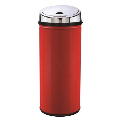 poubelle automatique ronde 42 l rouge achat vente poubelle corbeille poubelle. Black Bedroom Furniture Sets. Home Design Ideas