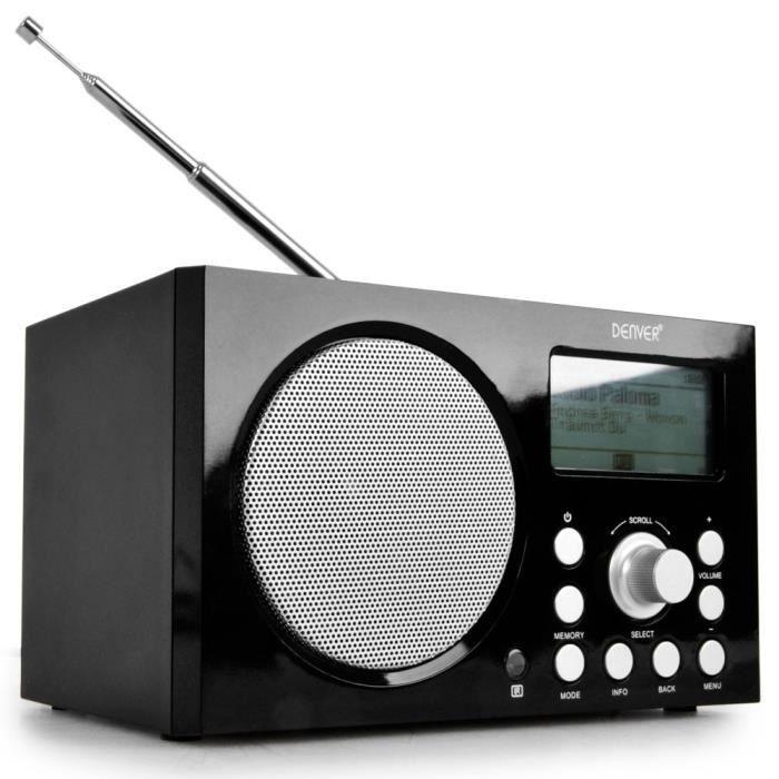 Internet Radio wifi RJ-45 stéréo musique MP3 AUX USB DAB+ ...