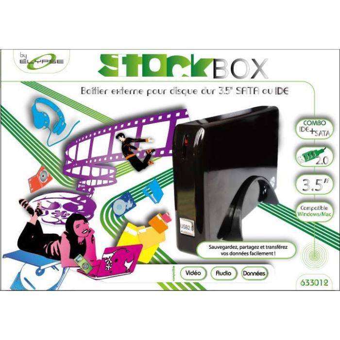boitier externe ide sata 3 5 pour disque dur prix pas cher cdiscount. Black Bedroom Furniture Sets. Home Design Ideas