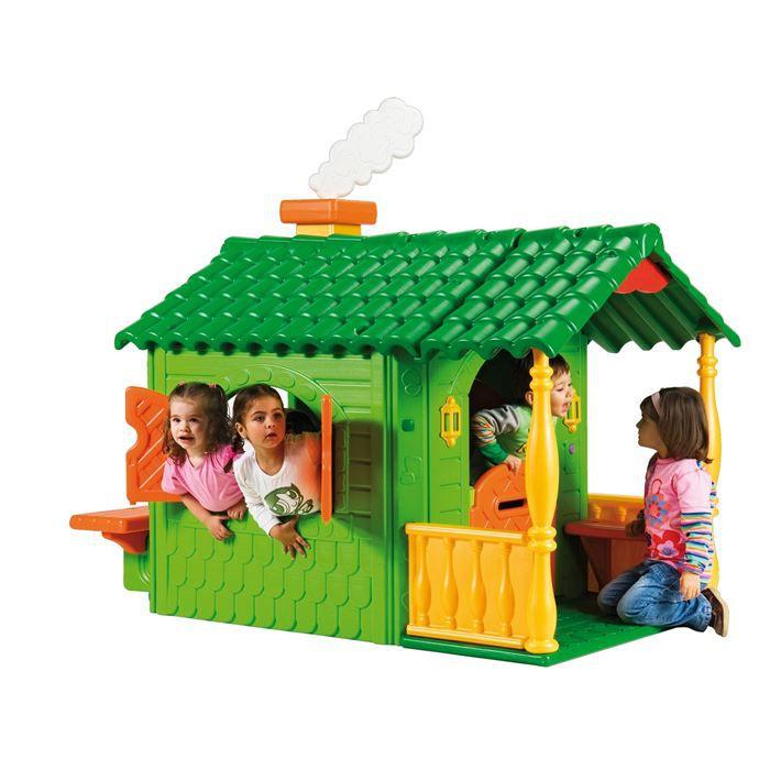 Feber bungalow achat vente maison jeux ext rieur for Maison jouet exterieur