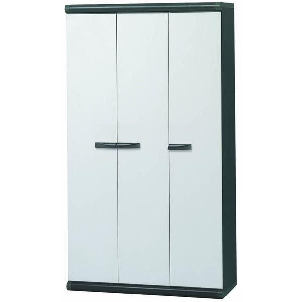 armoire haute en resine 3 portes et range balai achat vente armoire pharmacie armoire. Black Bedroom Furniture Sets. Home Design Ideas
