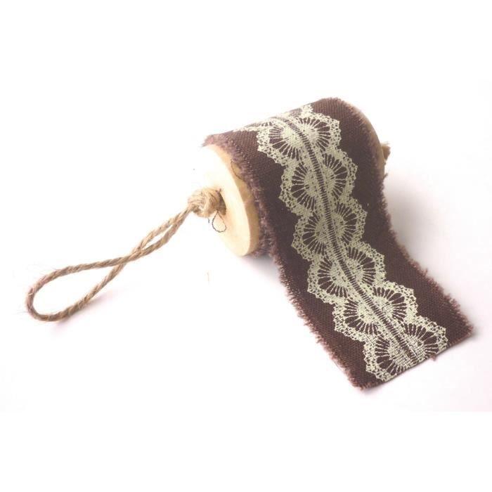 ruban tissu imprim chocolat dentelle graines cr atives achat vente bobine de ruban. Black Bedroom Furniture Sets. Home Design Ideas