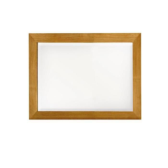 Miroir en teck massif 90 x 70 cm leon naturel achat for Miroir 90 x 150