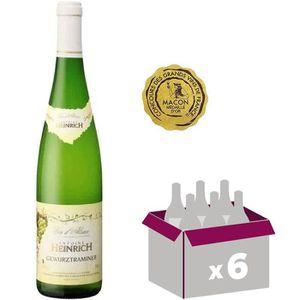 VIN BLANC Alsace Gewurztraminer Heinrich Vin blanc 2014 x6