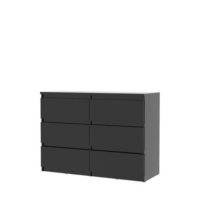 Finlandek commode de chambre natti style contemporain noir l 110 cm achat vente commode de - Chambre meuble noir ...