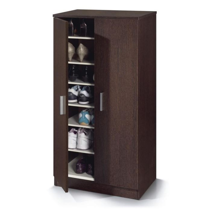 Zapato armoire chaussures 108cm weng achat vente for Meuble wenge