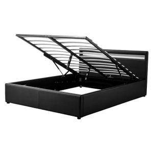 lit coffre 140x190 led achat vente lit coffre 140x190 led pas cher soldes cdiscount. Black Bedroom Furniture Sets. Home Design Ideas