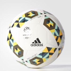 BALLON DE FOOTBALL Ballon adidas Pro Ligue 1 Glider - blanc/vert fonc
