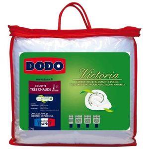 Dodo couette chaude 420 gr m anti acariens victoria 140x200 cm blanc achat - Couette dodo anti acarien 220x240 ...