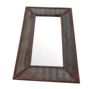 Miroir bois et metal achat vente miroir bois et metal for Miroir bois metal