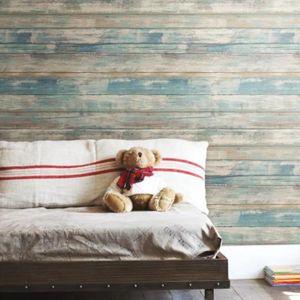 sticker papier peint adh sif facile poser amovible repositionnable et r utilisable bois vielli. Black Bedroom Furniture Sets. Home Design Ideas