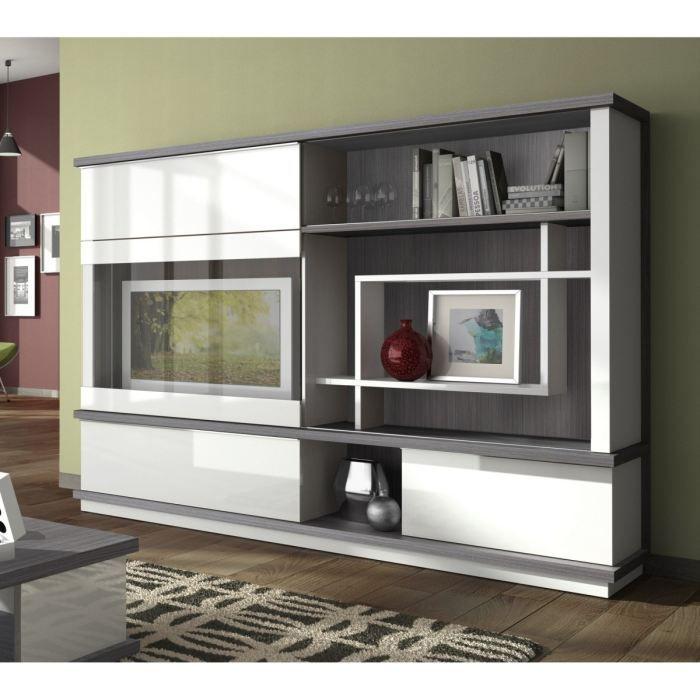 Meuble tv mural achat vente meuble tv mural pas cher for Meuble living blanc