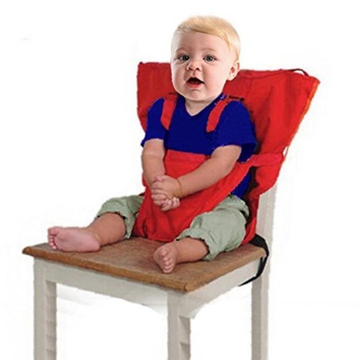 Si ges b b portable haute s curit chaise harnais enfant pliable de ceinture de s curit sac de - Harnais chaise haute bebe confort ...