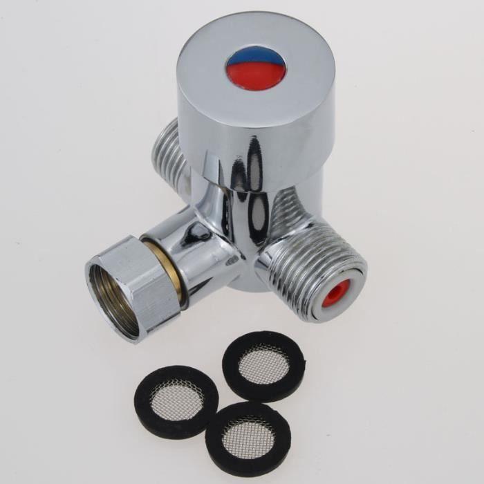 Thermostat de tuyau valve capteur thermostat du robinet vanne robinet d - Temperature eau froide robinet ...
