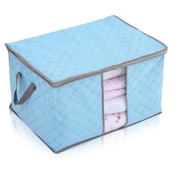 bo te de rangement pour couette v tement stockage sac pliable rangement housse achat vente. Black Bedroom Furniture Sets. Home Design Ideas