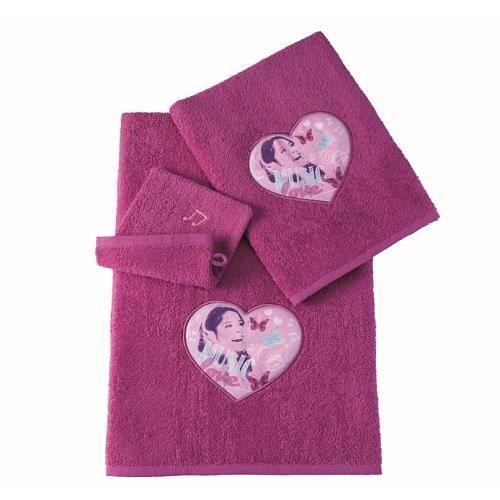 Coffret de serviettes de bain violetta achat vente serviettes de bain cdiscount - Serviette de bain carrefour ...