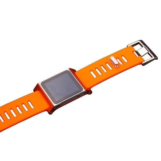 bracelet couleur pour ipod nano 6g couleur orange. Black Bedroom Furniture Sets. Home Design Ideas