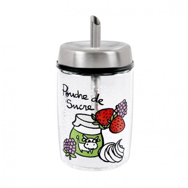 Sucrier en verre avec bec verseur multicolore achat - Boite a bec ...