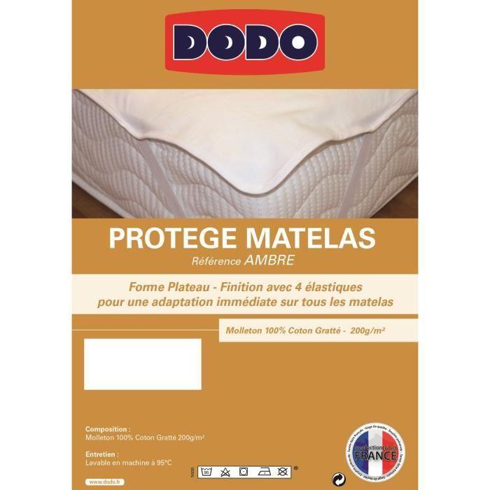 Dodo prot ge matelas ambre 140x190cm plateau achat vente prot ge matelas cdiscount - Protege matelas forme plateau ...
