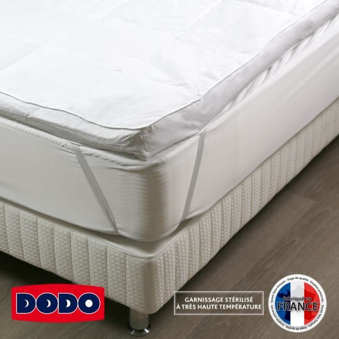 dodo morzine surmatelas surconfort 140 x 190 cm 90 plumettes et 10 duvet 2 personnes. Black Bedroom Furniture Sets. Home Design Ideas
