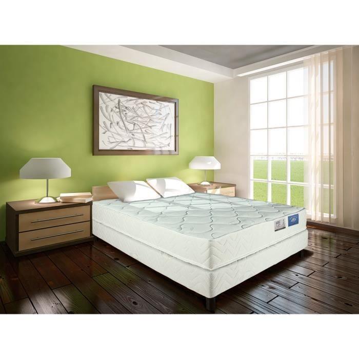 match ensemble matelas sommier 140x190 cm mousse et. Black Bedroom Furniture Sets. Home Design Ideas