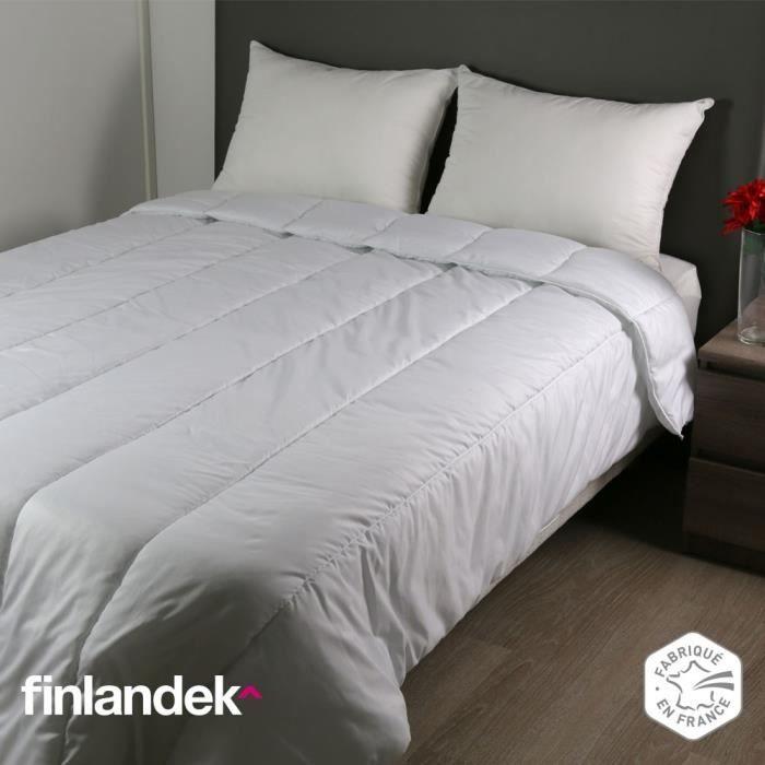 Finlandek couette temp r e anti acariens et anti t ches vieno 140x200 cm blan - Couette anti transpirante ...
