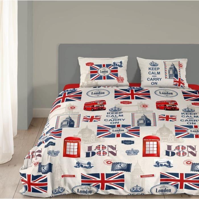 Good morning parure de couette london 100 coton 1 - Parure housse de couette london ...