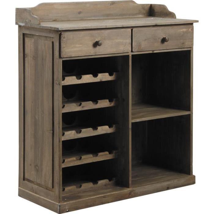 commode comptoir en bois antique avec dos renfo achat. Black Bedroom Furniture Sets. Home Design Ideas