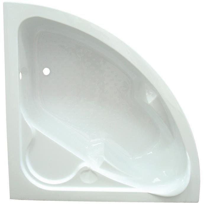 baignoire d 39 angle nue sans tablier 140cm achat vente baignoire kit balneo baignoire d. Black Bedroom Furniture Sets. Home Design Ideas