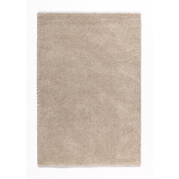 Nazar tapis de salon shaggy trendy beige 80x140 cm achat vente tapis 100 - Recherche tapis de salon ...