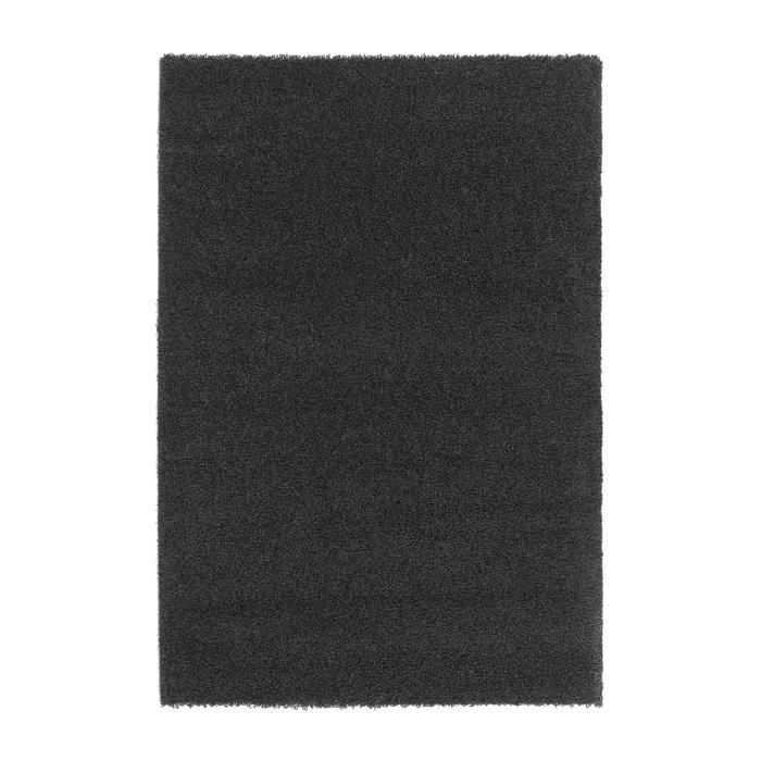 Trendy tapis de salon shaggy noir 80x140cm achat vente - Recherche tapis de salon ...
