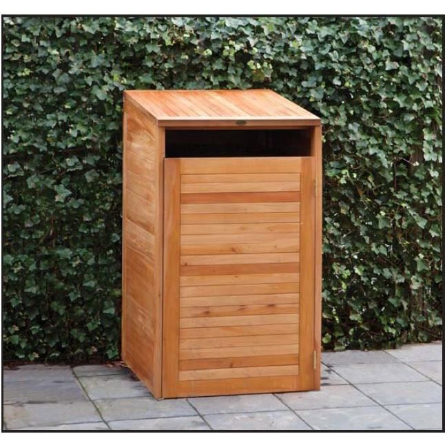 cache poubelles en bois dur achat vente cache conteneur cache poubelles en bois dur soldes. Black Bedroom Furniture Sets. Home Design Ideas