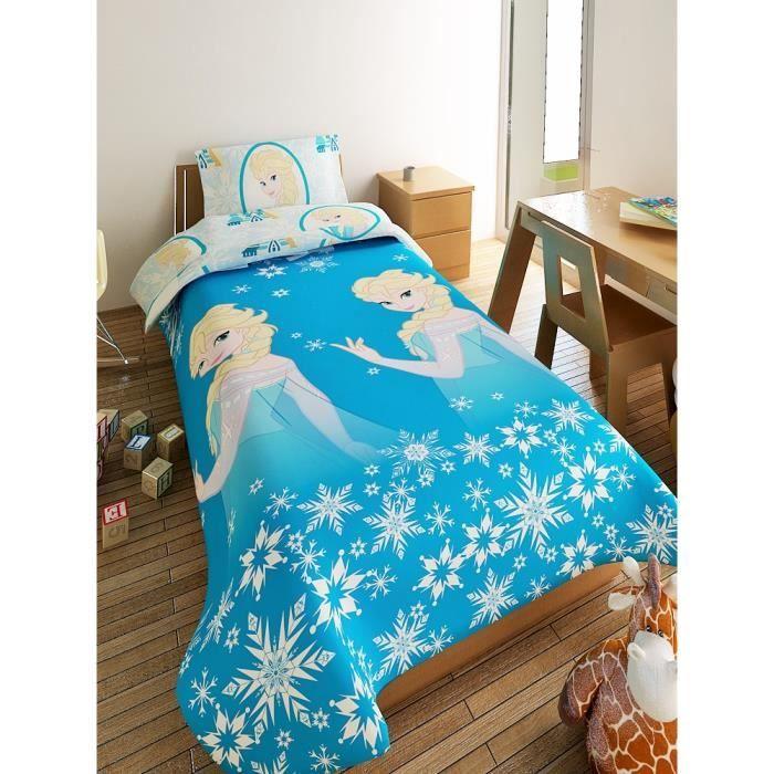 reine des neiges housse de couette microfibre 140x200 1. Black Bedroom Furniture Sets. Home Design Ideas