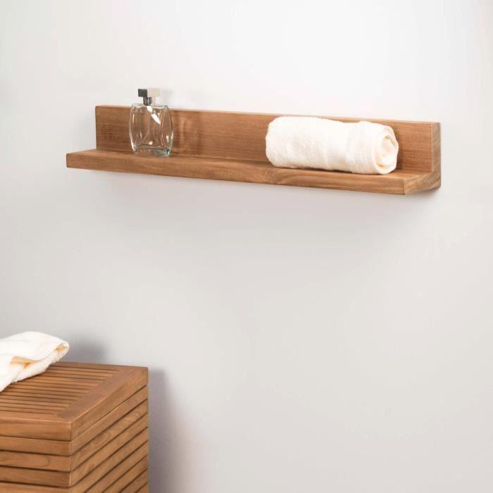 tablette tag re cam lia salle de bain en teck massif 70cm achat vente meuble vasque plan. Black Bedroom Furniture Sets. Home Design Ideas