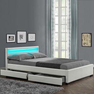 lit avec tiroirs achat vente lit avec tiroirs pas cher cdiscount. Black Bedroom Furniture Sets. Home Design Ideas