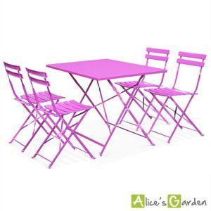 Salon jardin table extensible et chaise pliante achat for Salon de jardin pliable