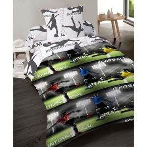 parure de lit football achat vente parure de lit football pas cher les soldes sur. Black Bedroom Furniture Sets. Home Design Ideas