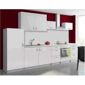 meuble de cuisine sous evier 120cm blanc achat vente
