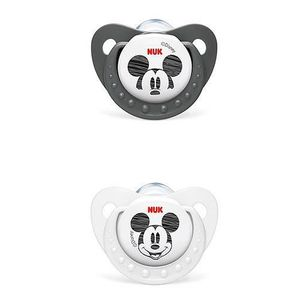 SUCETTE NUK 2 Sucettes physiologiques Silicone Mickey Tail