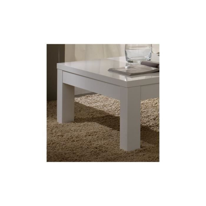 Table basse design roma base coloris blanc laqu achat for Table basse scandinave blanc laque