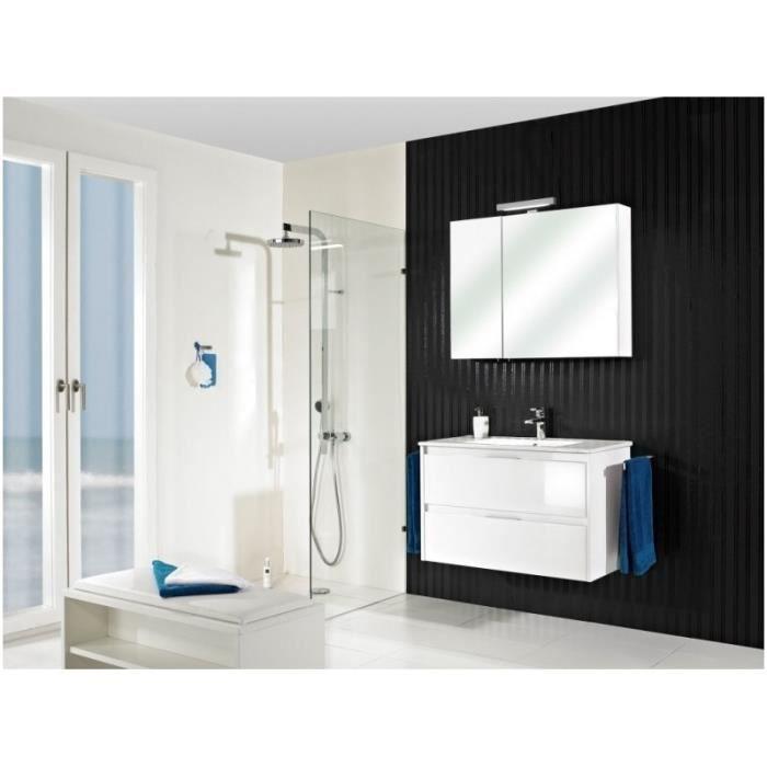 meuble suspendu salle de bain calypso 60 laqu blanc. Black Bedroom Furniture Sets. Home Design Ideas