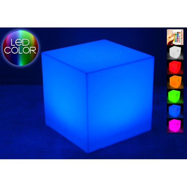 cube lumineux led 60 cm achat vente d coration. Black Bedroom Furniture Sets. Home Design Ideas