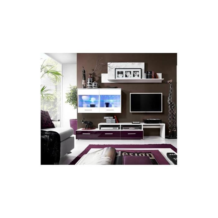 ensemble meuble tv zaria violet achat vente meuble tv ensemble meuble tv zaria vi cdiscount. Black Bedroom Furniture Sets. Home Design Ideas