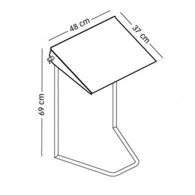 Table d appoint ordinateur portable valdiz for Table d appoint ordinateur